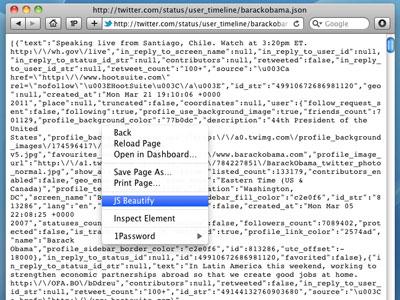 JS Beautify Safari Extension